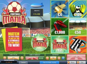 Jackpot Scratch Football Mania Scratch Card